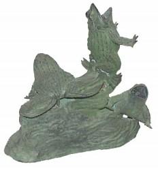 grenouille en bronze BRZ0629V ( H .25 x L .26 Cm ) Poids : 3 Kg