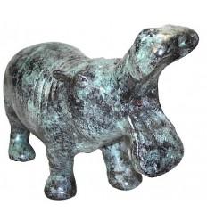 hippopotame en bronze BRZ0050V ( H .46 x L .28 Cm ) Poids : 6 Kg