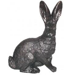 lapin en bronze BRZ0134 ( H .33 x L .22 Cm ) Poids : 3 Kg