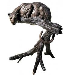 léopard en bronze BRZ0358 ( H .121 x L .120 Cm ) Poids : 65 Kg