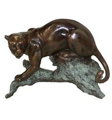 léopard en bronze BRZ0670mv ( H . x L . Cm )