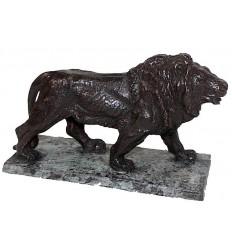 lion en bronze BRZ0907V ( H .15 x L .20 Cm ) Poids : 2 Kg