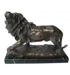 lion en bronze BRZ1263/SM382 ( H .30 x L .38 Cm ) Poids : 11 Kg