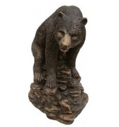 ours en bronze BRZ0623 ( H .33 x L .28 Cm ) Poids : 9 Kg