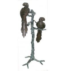 perroquet en bronze BRZ0421 ( H .144 x L .63 Cm ) Poids : 32 Kg