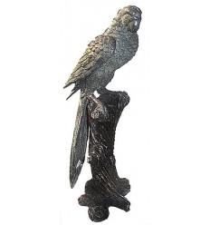 perroquet en bronze BRZ0680 ( H .33 Cm ) Poids : 2 Kg
