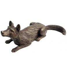 renard en bronze BRZ0997 ( H .7 x L :25 Cm ) Poids : 1 Kg