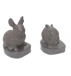 lapin en bronze BRZ0598-SM ( H .13 x L .10 Cm ) Poids : 1 Kg