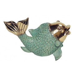 poisson en bronze BRZ0641 ( H . x L . Cm )