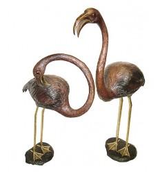 Flamant en bronze BRZ1174 ( H .127 x L :86 Cm ) Poids : 29 Kg