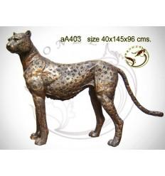 Guépard en bronze aa403-100 ( H .96 x L :145 Cm )