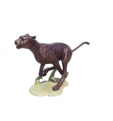 Guépard en bronze BRZ147 ( H .180 x L :80 Cm ) Poids : 60 Kg