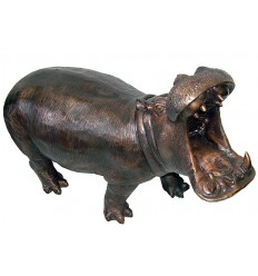 Hippopotame en bronze BRZ1135 ( H .63 x L :96 Cm ) Poids : 42 Kg