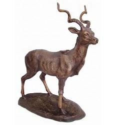 gazelle en bronze BRZ1433 ( H .33 x L .28 Cm ) Poids : 2 Kg