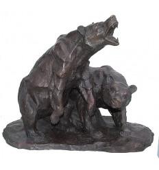 Ours en bronze BRZ1200/SM402 ( H .46 x L :61 Cm ) Poids : 33,5 Kg