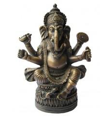 Sculpture divinité asiatique en bronze BRZ1284V ( H .25 x L . Cm ) Poids : 1 Kg