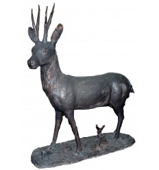 Cerf en bronze BRZ1688 ( H 110 . x L 90 . Cm ) 70 kg