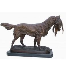 Chien en bronze BRZ1436 / CD021 (H. 46 x L. 71 Cm) - Poids : 9 Kg
