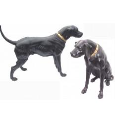chien en bronze BRZ0106 ( H .102 x L .134 Cm ) Poids : 110 Kg