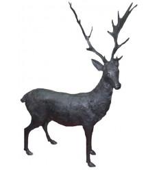 Dain en bronze BRZ1703 H. 148 x L. 120 ( Cm ) - Poids : 40 Kg