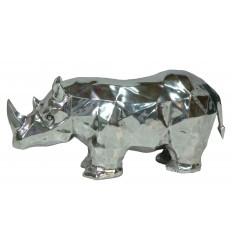 sculpture aluminium rhinocéros ref : 1693