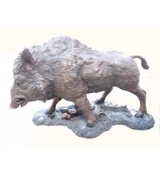 Sculpture Sanglier en bronze Réf : BRZ1716S