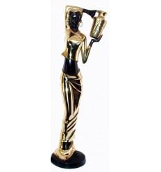 Sculpture africaine en bronze BRZ0006O-34 ( H .86 x L : Cm ) Poids : 8 Kg