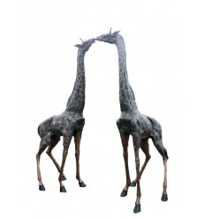 Sculpture couple de girafe en bronze Réf: BRZ1743