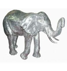 Sculpture éléphant en aluminium Réf : ALU1087