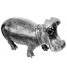 Sculpture d'un hippopotame en aluminium Réf : ALU1135