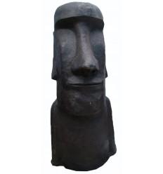 sculpture de moai BRZ1413 ( H .119 x L .61 Cm ) Poids : 59 Kg