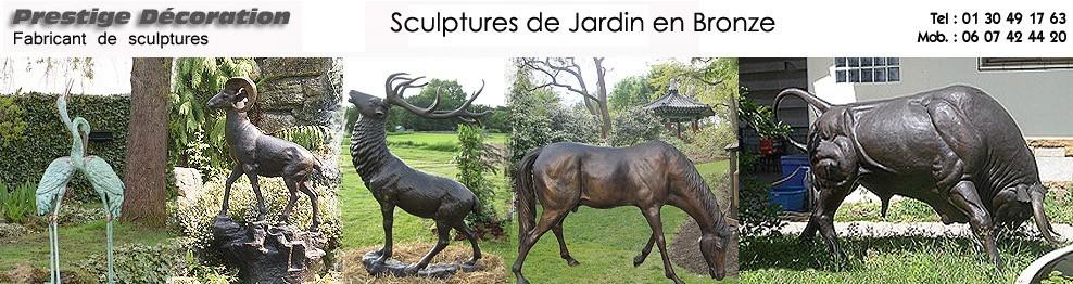 decoration de jardin en bronze