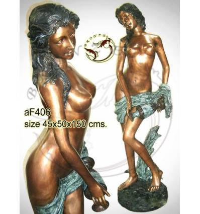 Fontaine bassin bronze af406-100