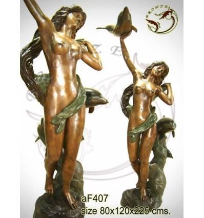 Fontaine bassin bronze af407-100