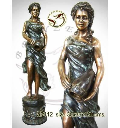 Fontaine bassin bronze af412-100