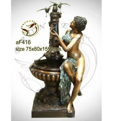 Fontaine bassin bronze af416-100