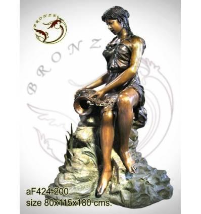 Fontaine bassin bronze af424-100
