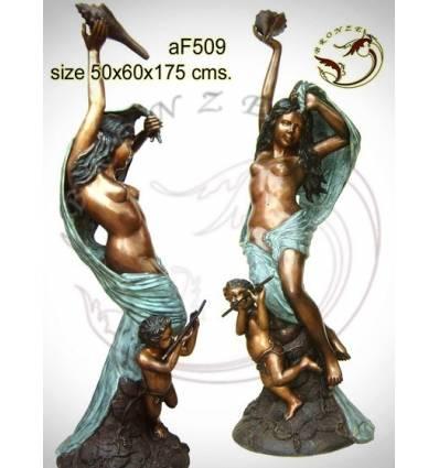 Fontaine bassin bronze af509-100