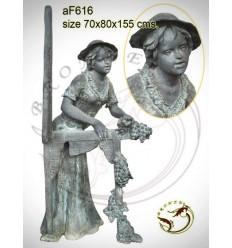 Fontaine bassin bronze af616-100