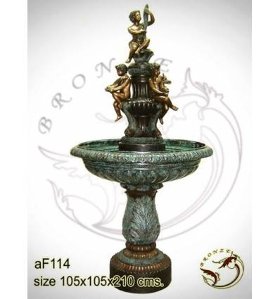Fontaine vasque en bronze af114-100