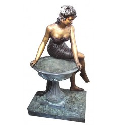 Fontaine vasque en bronze BRZ0891