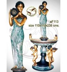 Fontaine bassin bronze af113-100