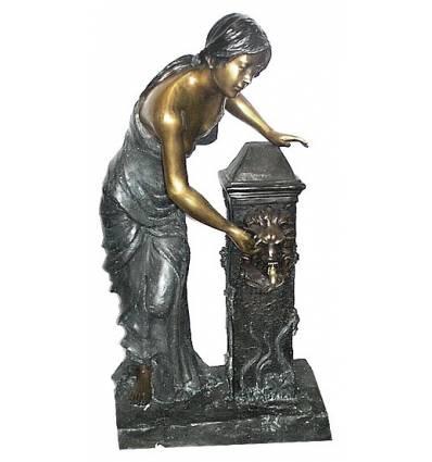 Fontaine bassin bronze BRZ0392