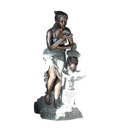 Fontaine bassin bronze BRZ0890