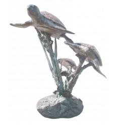 Fontaine d'extérieur en bronze BRZ1091