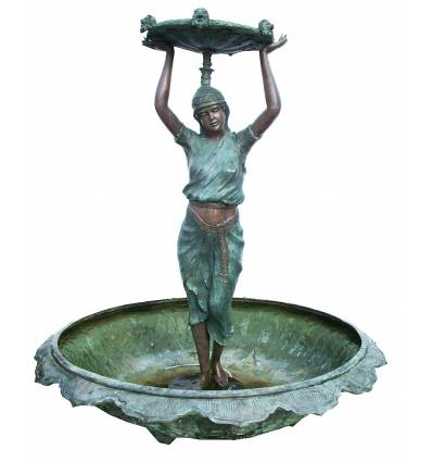 Fontaine vasque en bronze BRZ1357