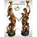 Lampadaire de jardin en bronze ap001-100