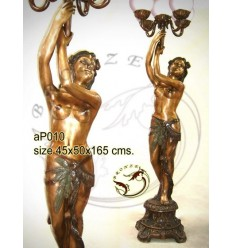 Lampadaire de jardin en bronze ap010-100