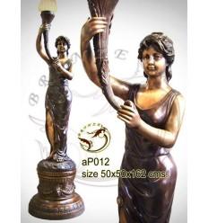 Lampadaire de jardin en bronze ap012-100
