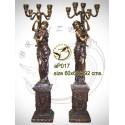 Lampadaire de jardin en bronze ap017-100